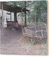 Ojibwe Fish Trap Wood Print