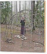 Ojibwe Wigwam Part 1 Wood Print