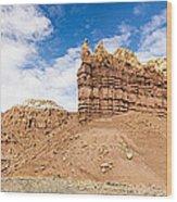 Ojitos De Los Gatos Panorama - New Mexico Wood Print