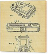 Okada Nintendo Gameboy 2 Patent Art 1993 Wood Print