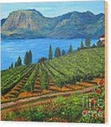 Okanagan Vineyard Wood Print