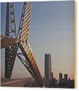 Okc Sky Bridge Wood Print