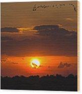 Okeechobee Sunset Wood Print