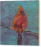 Oklahoma Cardinal Wood Print by Susie Jernigan