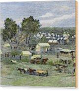 Oklahoma City, 1889 Wood Print