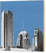 Oklahoma City Skyline - Slate Wood Print