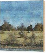 Oklahoma Hay Rolls Photo Art 02 Wood Print