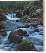 Okonoluftee Mountain Stream Wood Print