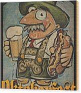 Oktoberfest Guy Poster Wood Print