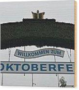 Oktomberfest In Bavaria Wood Print