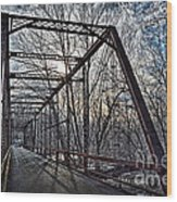 Ol' Iron Bridge Of Dark Hallow Wood Print