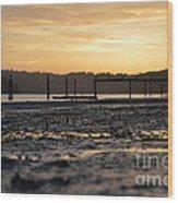 Ol' Ship Dock 2 Wood Print by Sheldon Blackwell