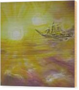 Ol' Ship Of Zion Wood Print