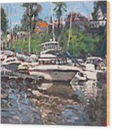 Olcott Yacht Club Wood Print