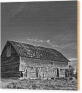Old Abandoned Barn - D Rd Nw - Douglas County - Washington - May 2013 Wood Print