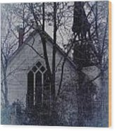 Old Abandoned Church Wood Print