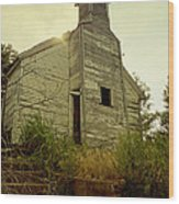 Old Abandoned Country  School Wood Print
