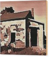 Old Abandoned House In Cape Breton Wood Print by John Malone