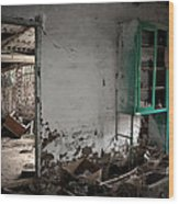 Old Abandoned Kitchen Wood Print by RicardMN Photography