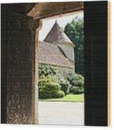 Old Abbey Church Door - Abbey Fontenay Wood Print