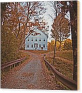 Old Academy South Woodstock Wood Print