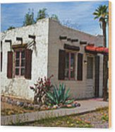 Old Adobe Cottage Wood Print by Brian Lambert