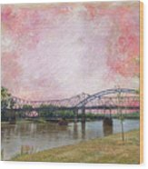 Old Amelia Earhart Bridge Wood Print