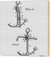 Old Anchor Patent Wood Print