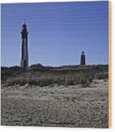 Old And New Cape Henry Lighthouse Wood Print