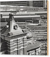 Old And New Tokyo Station Wood Print