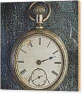 Old Antique Pocket Watch Wood Print