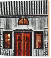 Old Antique Wooden House Wood Print