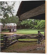 Old Appalachian Barn Yard Wood Print