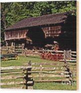 Old Appalachian Farm Cantilevered Barn Wood Print