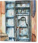 Old Arabian Door Wood Print