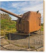 Old Artillery Gun - Ft. Stevens - Oregon Wood Print