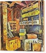 Old Baggage Claim Wood Print