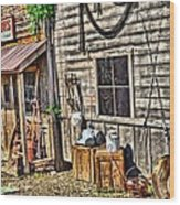 Old Bait Shop And Antiques Wood Print