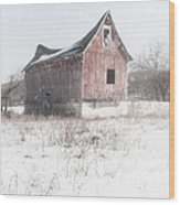 Old Barn - Brokeback Shack Wood Print by Gary Heller