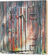 Old Barn Door 2 Wood Print
