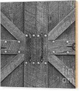 Old Barn Door Pt 2 Wood Print