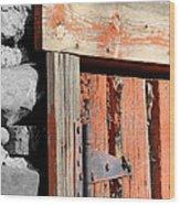Old Barn Door Wood Print