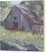 Old Barn In Arkansas Wood Print