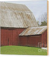 Old Barn Wood Print by Kathy DesJardins