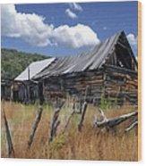 Old Barn Las Trampas New Mexico Wood Print