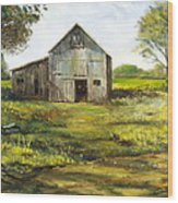Old Barn Wood Print by Lee Piper