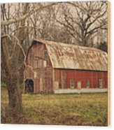 Old Barn Near Rhineland Mo Dsc09267 Wood Print