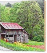 Old Barn Near Willamson Creek Wood Print