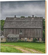 Old Barn On A Stormy Day Wood Print