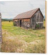 Old Barn On Highway 86 - Rustic Barn Wood Print